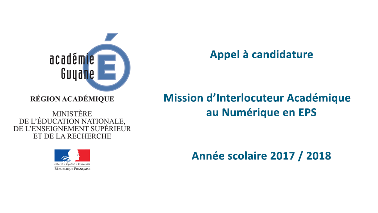 Appel à candidature  « Mission d'Interlocuteur Académique au Numérique en EPS »